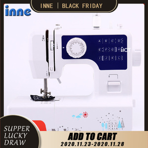 INNE Sewing Machine 12 stitches Mini Portable Household Night Light Foot Pedal Sew Two Thread Kit Electric Hight Quality