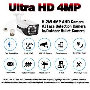Image 2 - Gezicht Record H.265 Sony IMX322 2560*1440P 4MP Ahd Cctv Camera Outdoor IP66 Waterdicht Dag Nachtzicht bewegingsdetectie