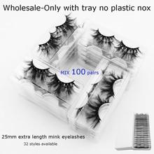 40/60/80/100/120paris/pack visofree 25mm mink eyelashes bulk make up 5D eyelashes wholesale eyelash extension maquillaje beauty