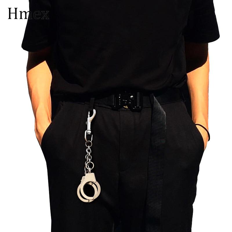 Rock Hip-hop Punk Metal Wallet Belt Chain Pants Chain Silver Handcuffs Waist Chain For Women Men Keychain Jewelry Accessories