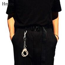 Rock hip-hop Punk Metal Wallet Belt Chain Pants chain Silver handcuffs Waist for Women men Keychain Jewelry Accessories
