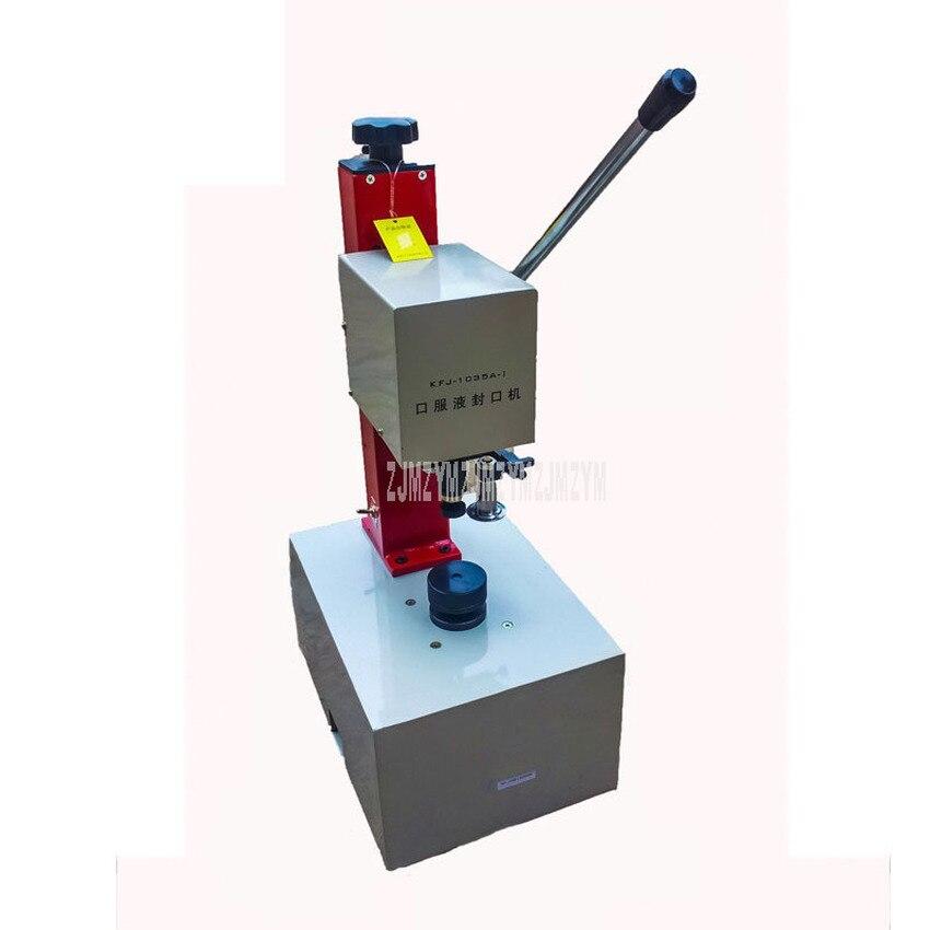 Ev Aletleri'ten Vakumlu Gıda Yalıtıcılar'de 10 35mm şişe kapağı yapıştırma makinesi elektrikli ilaç ürünleri kozmetik şişe kapağı ambalaj ağız kilitleme makinesi 220V KFJ 1035 title=