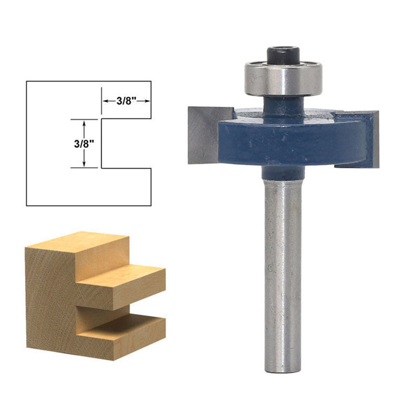 """1PC 1/4"""" 6.35MM Shank Milling Cutter Wood Carving T Type Bearings Wood Milling Rabbeting Bit Woodworking Tool Router Bits Wood"""
