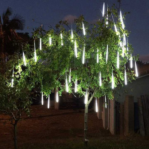 Image 2 - Luz LED de 8 tubos de 30/50cm para vacaciones, cadena de ducha de meteorito, Festival impermeable, luz de jardín interior y exterior para Año Nuevo