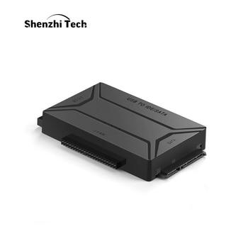 цена на USB 3.0 to SATA IDE External Hard Drive Converter for 2.5 & 3.5 inch HDD SDD IDE Adapter(EU plug)