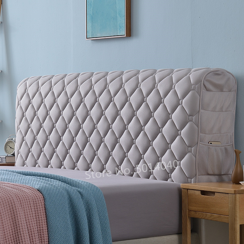 All inclusive headboard cover European fabric solid wood bed anti collision head back cover dust protection