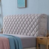 Capa de cabeceira com tudo incluído tecido europeu cama de madeira maciça cabeça anti-colisão capa de proteção contra poeira 3cm de espessura