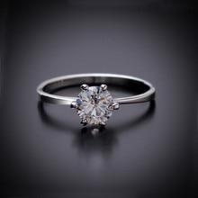 цена 925 Sterling Silver Ring Hot Women Clear Zircon Inlaid Wedding Bridal Engagement Party Jewelry Classic Rome Finger Ring Size 6-9 в интернет-магазинах