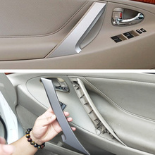 Trim Cover Car Handle Inner Door Panel Parts Outdoor Personal Car Auto Decoration for Toyota Camry 2006 2011 Silver