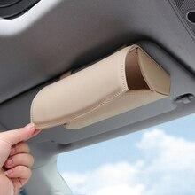 Car Glasses Case Sunglasses Storage Box 4 Colors Auto Interior Accessories Glasses Holder Sun Visor Automobiles