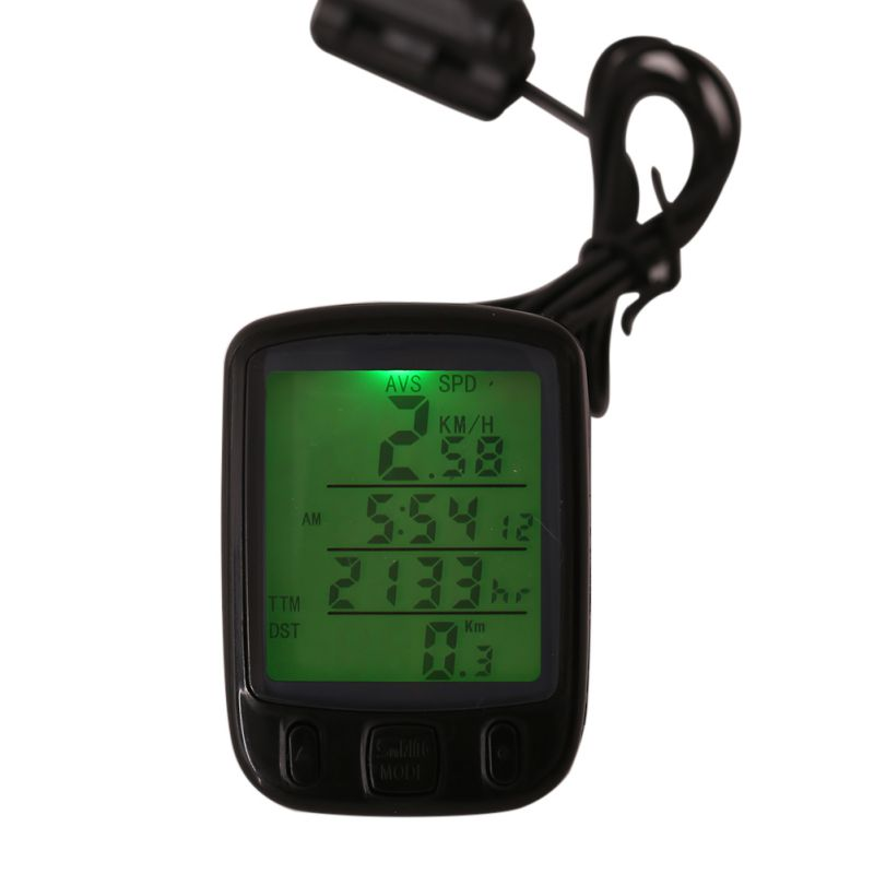 LCD Backlight <font><b>Bike</b></font> Computer Waterproof Sunding Bicycle Computer Multifunction Cycling <font><b>Bike</b></font> Speedometer Odometer <font><b>Power</b></font> <font><b>Meter</b></font> image