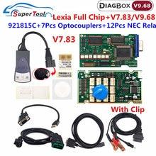 V9.68 obd2 ferramenta de diagnóstico lexia 3 chip completo pp2000 lexia3 diagbox 7.83 fireware 921815c lexia3 para citroen/peugeot scanner código