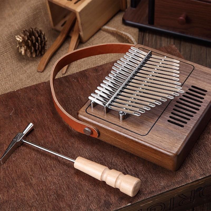 Портативное пианино с 17 клавишами калимба, фортепиано для большого пальца, изготовлено на одной доске, высококачественный деревянный музыкальный инструмент из красного дерева|Пианино|   | АлиЭкспресс - Хобби - музыка