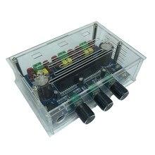 2*50W + 100W Bluetooth 5.0 dual TPA3116 cyfrowa płyta wzmacniacza subwoofera 2.1 kanałowy TPA3116 Audio Stereo equalizer AUX Amp