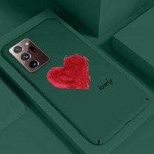 Ultra ince renkli mat sert PC telefon kılıfı için Samsung Galaxy S20 S10 E 5G S9 S8 not 20 10 9 8 artı lüks sevimli buzlu kapak
