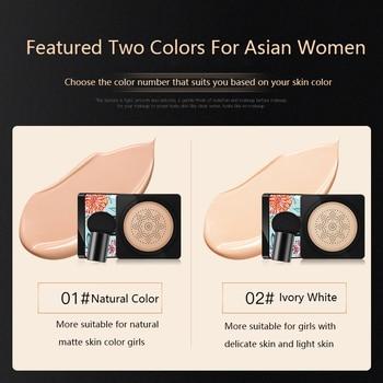 BB Air Cushion Foundation Mushroom Head CC Cream Concealer Whitening Makeup Cosmetic Waterproof Brighten Face Base Tone 4