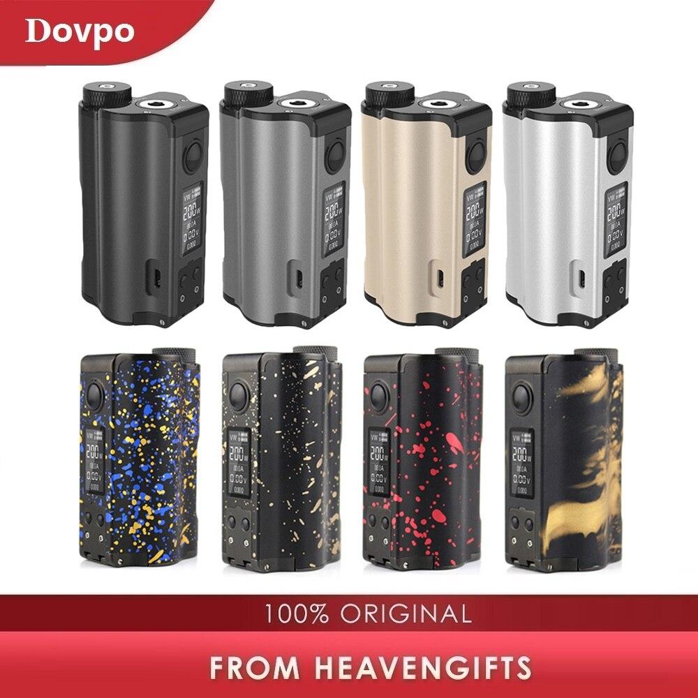 Nouveau DOVPO haut double 200W haut remplissage TC Squonk MOD avec 10ml Squonk bouteille No 18650 batterie boîte Mod VS Luxe Mod/glisser 2/Rage-in Cigarette électronique Mods from Electronique    1