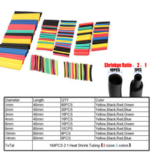 Heat-Shrink-Tubing-Wire-Cable Shrinking Insulation Sleeving Polyolefin Hot-164pcs Assorted