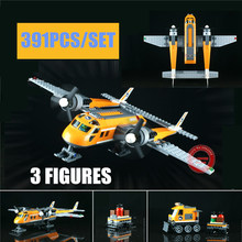 New Arctic Supply Plane fit Arctic city figures building blocks bricks technic Model building toy kid gift children birthday new playground series fits legoings creators city streetview set house figures model building kit bricks blocks diy gift kid toy