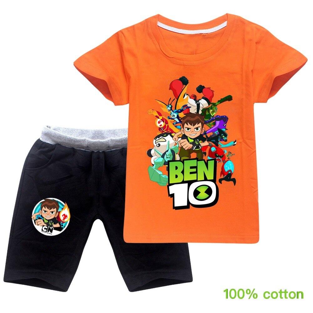 ben10 2019 Summer autumn Boys Pajamas Suits Short Sleeve Kids Pijama Children Pyjama Sets Boys Sleepwear bottom Clothing Unisex 5