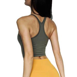 Yoga-Shirts Top-Workout Sports-Vest Crop Cretkoav Women Quick-Dry Sexy Sleeveless New