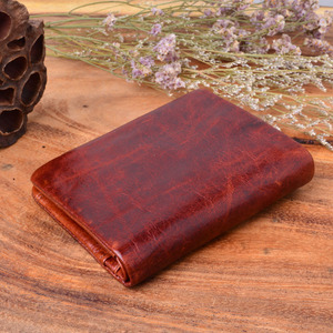 Image 2 - AETOO Handmade Works Of Art Wallet Retro Coin Purse Brush Color 100% Genuine Leather Wallet Men Bag The best gift