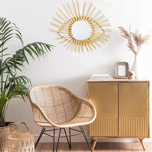 Rattan Eye Wall Mirror