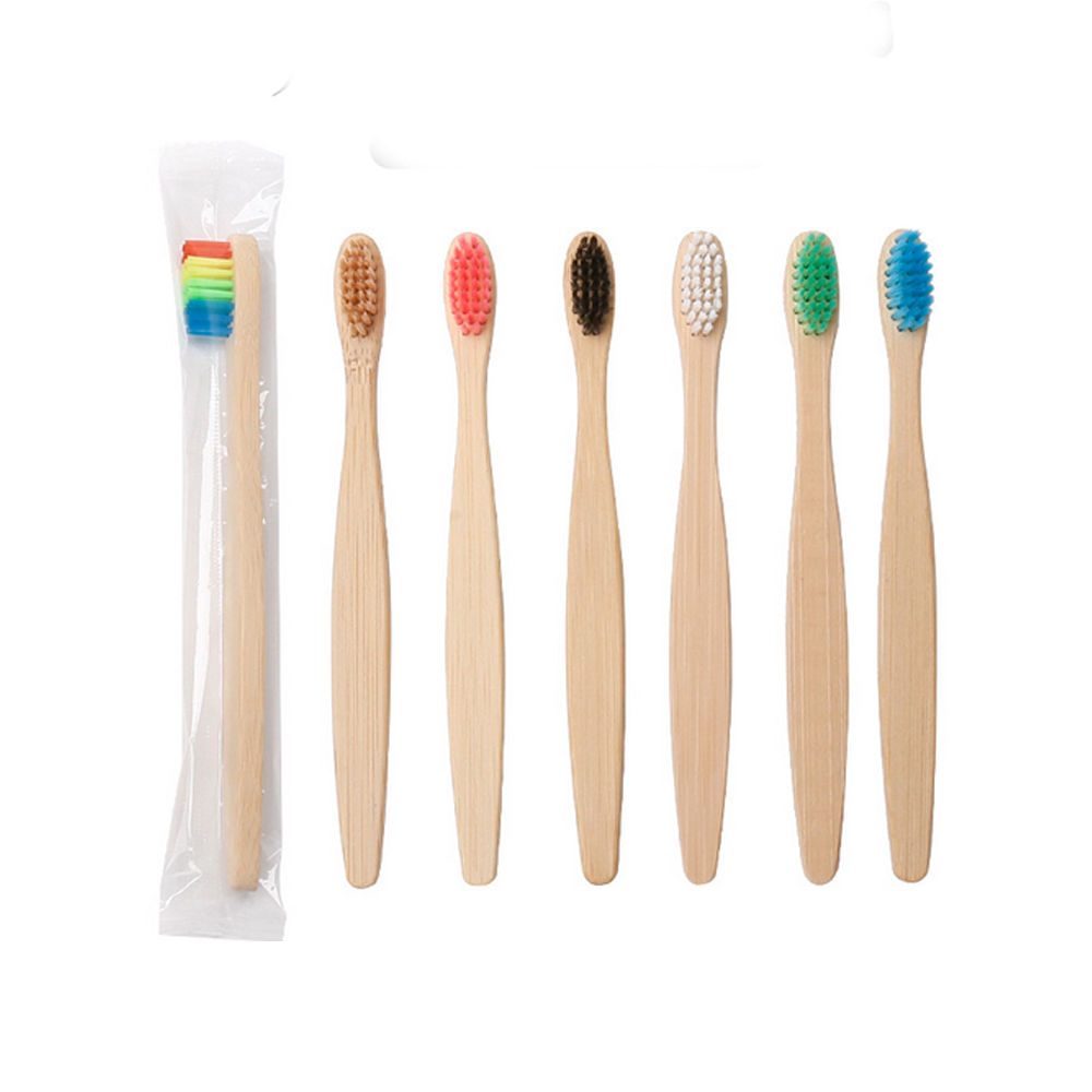 10PCS Kids Natural Bamboo Toothbrushes Set Soft Bristles Toothbrushes for Children Travel Daily Use Kids Oral Care Toothbrushes image