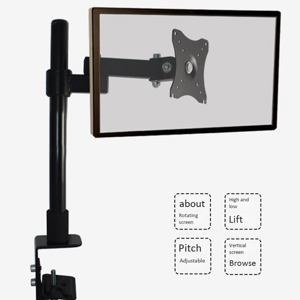14-27 Inch Monitor Computer Stand 360 Rotating Table Clamp Stand