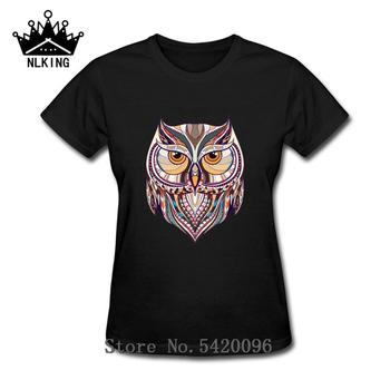 Ancient Harry Ethnic Owl T-Shirt Women's geek style cotton T Shirt Hipster Magic Wizard Tees Owly Potter-lover Animal T shirt