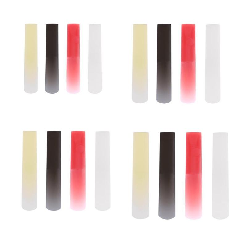 Resin Plastic Sax Saxophone Reed Woodwind Instrument Parts Accessories For Clarinet/Soprano/Alto/Tenor Saxophone 4 Colors