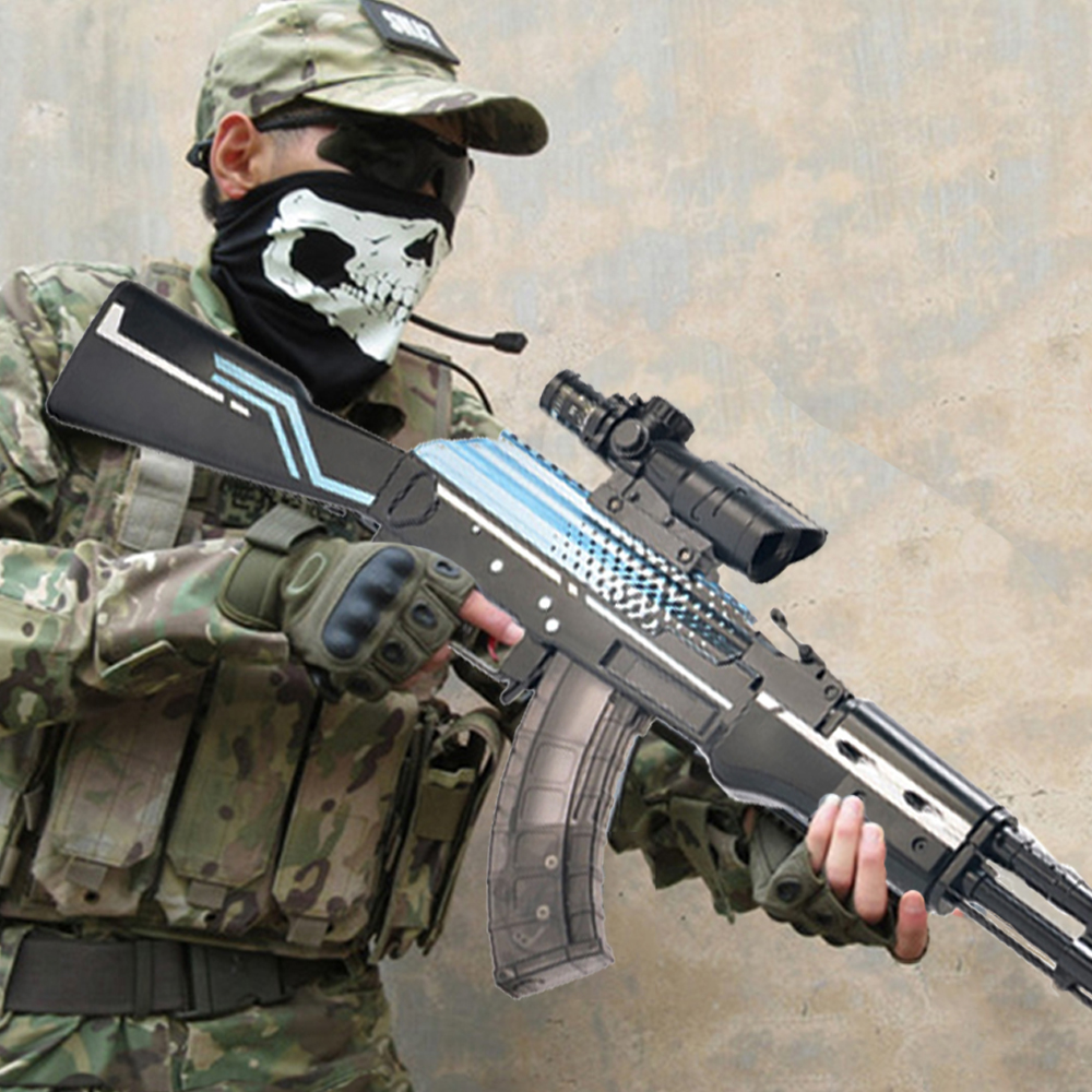 AK 47 AKM  Assault Rifle Toy Guns Water Gel Ball Gun Kids Gifts Weapon Single Shoot 4x Scope Outdoor Shooting Games Toys For Boy