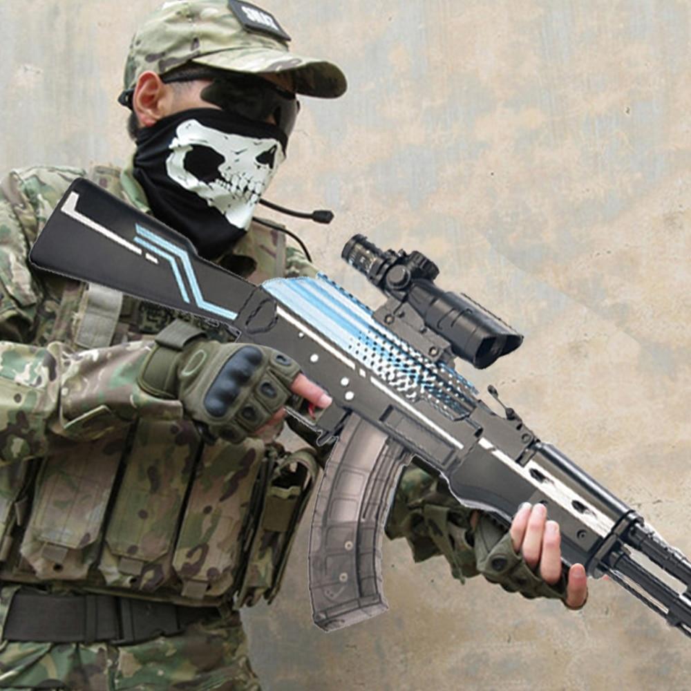 AK 47 AKM  Assault Rifle Toy Guns Water Gel Ball Gun Kids Gifts Weapon Single Shoot 4x Scope Outdoor Shooting Games Toys For Boy
