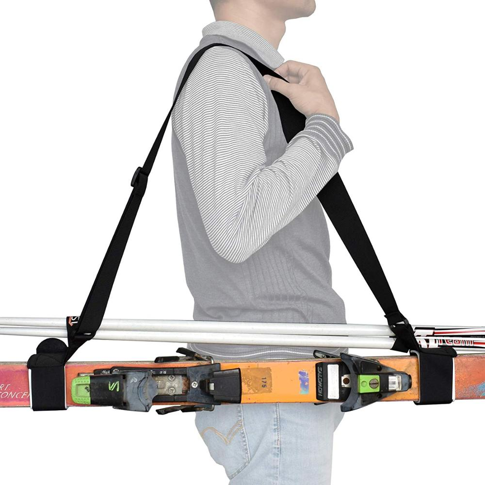 Thick And Strong Ski Shoulder Carrier Lash Handle Straps Porter -new Style No Skis And No Poles