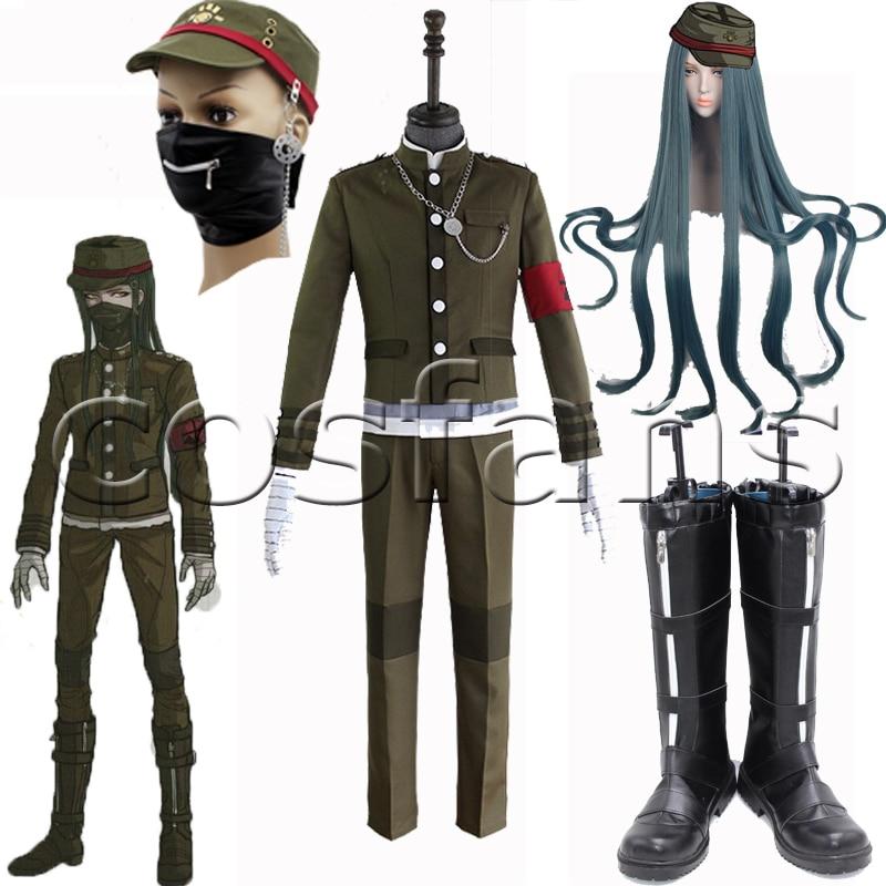 Game Danganronpa V3: Killing Harmony Korekiyo Shinguji Cosplay Costume Outfits School Uniform Korekiyo Shinguji Cosplay Wig Hair