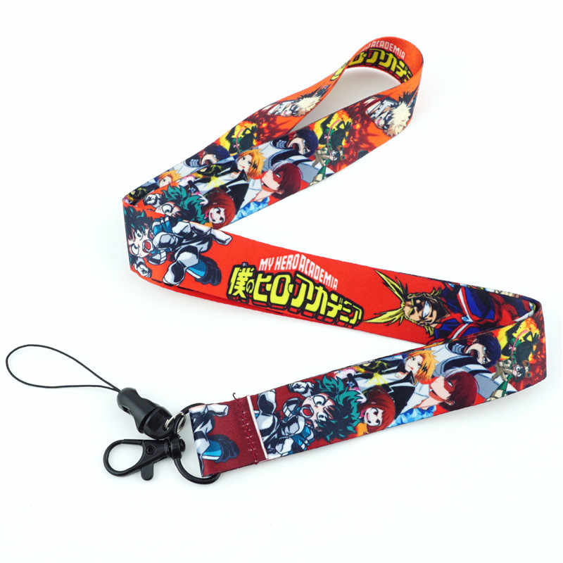 4pcs Naruto0 Lanyards Neck Straps Phone Accessories ID Holders Keychain Cosplay