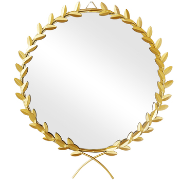 Northern Europe Metal Makeup Round Mirror Hang The Metope Decoration Originality Wall Hanging Specchio Glass Decorative Spiegel