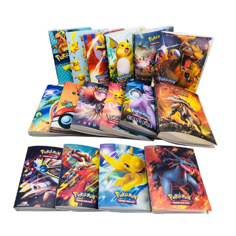Collection Holder Album 15style Pokemon Cards  Book Pikachu Cartoon Anime Pocket Monster Toys For Children Funny Gift