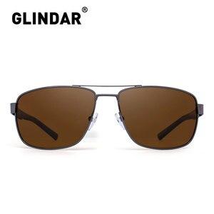 Image 2 - Marka tasarım erkekler polarize güneş gözlüğü kare sürüş güneş gözlüğü erkekler için