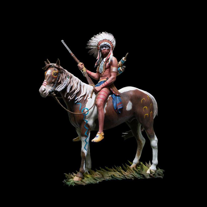 1/18 ANCIENT MAN OFFICER SIT WITH HORSE Resin figure Model kits Miniature gk Unassembly Unpainted