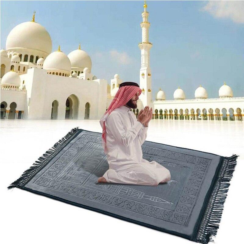Vip grosso macio muçulmano tapete de oração islâmica tapete oração salat musallah tapis de priere islam sajadah orando tapete gebedskleed