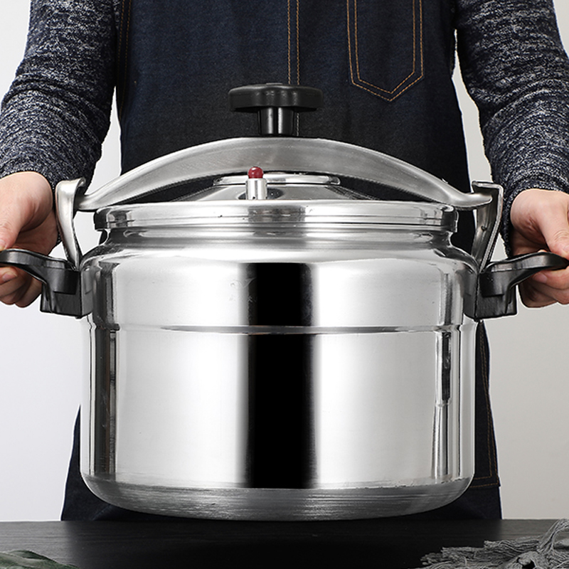 Aluminum Alloyl Large-Capacity Pressure Cooker Gas Cooker Can Use Explosion-Proof Pot Home Cooking Utensils 5-18L 1