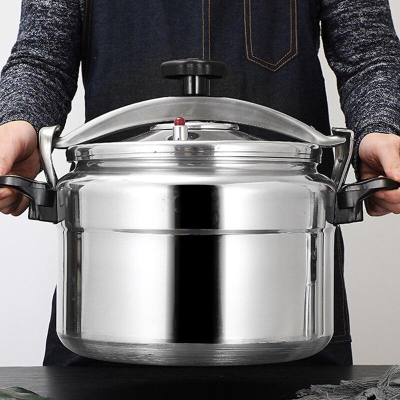 Алюминиевая газовая скороварка большой емкости из сплава используется взрывозащищенный горшок домашняя кухонная утварь 5-18 л
