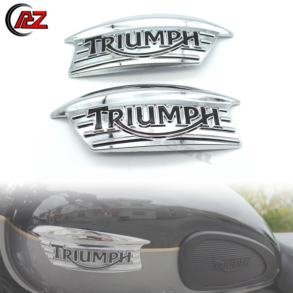 Pul adesivo de decalque emblema 3d para motocicleta, logotipo para triumph bonneville t100 t120 t140 650 750 scrambler thruxton 900