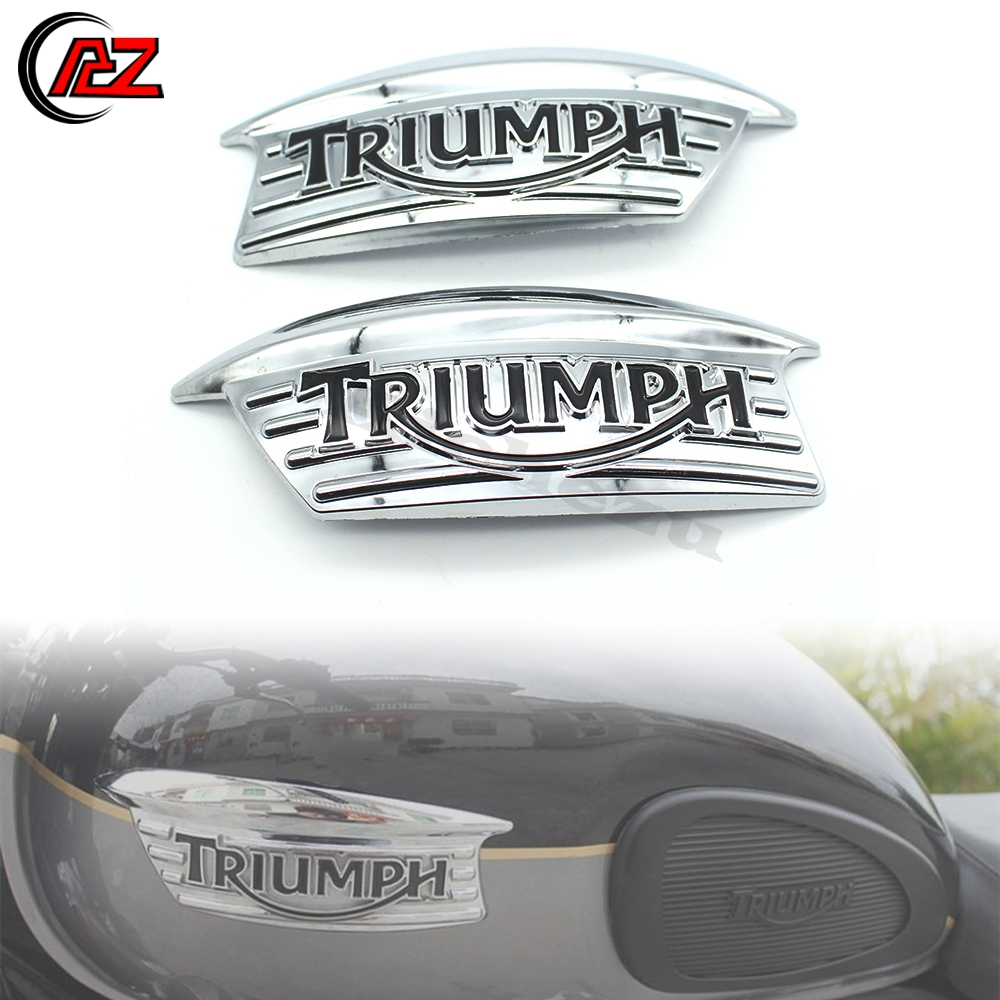 Acz motocicleta 3d emblema emblema decalque tanque de combustível adesivo logotipo para triumph bonneville t100 t120 t140 650 750 scrambler thruxton 900