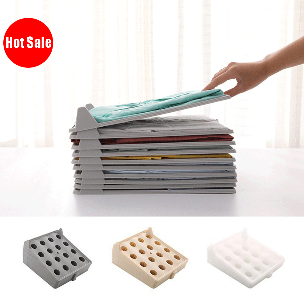 3Pcs Household Clothes Folding Board T-<font><b>Shirt</b></font> Storage Rack Laundry <font><b>Organizer</b></font> T-<font><b>shirt</b></font> Document Home Closet <font><b>Organizer</b></font> image