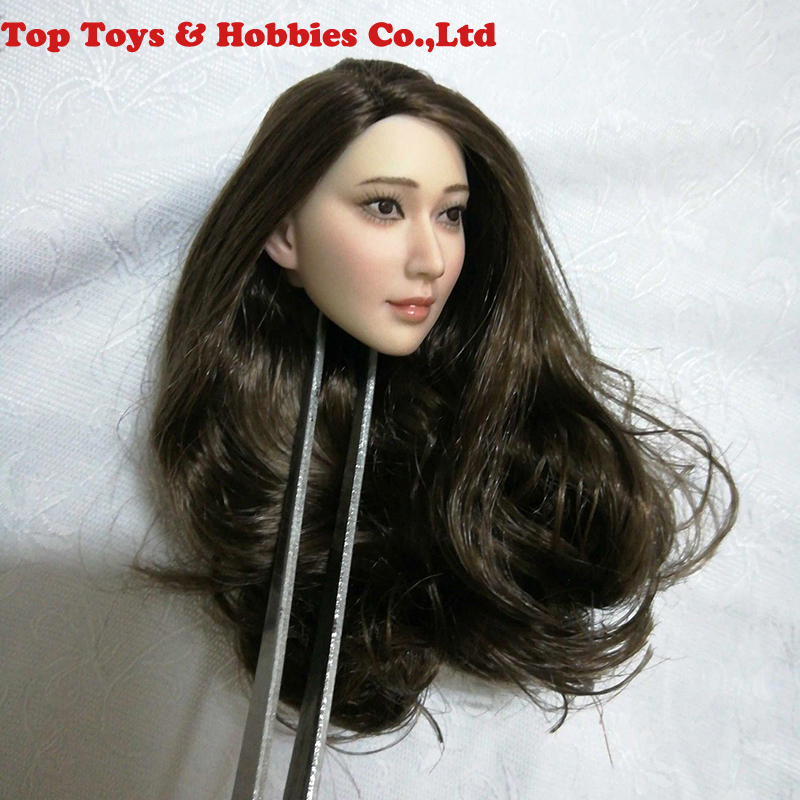 1//6 Scale Asian Beauty Girl Head Carving Fit 12/'/' Action Figure
