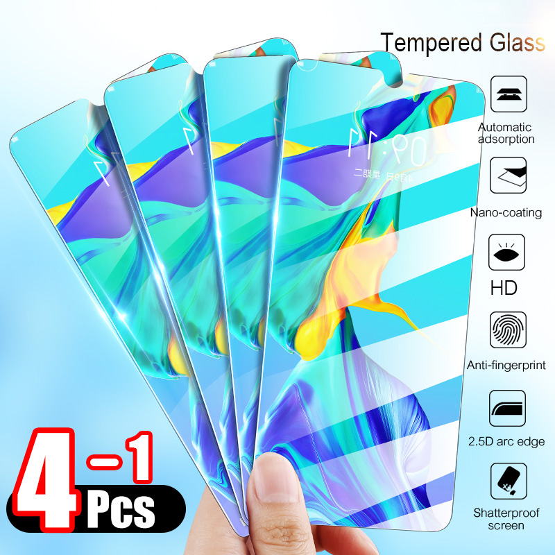 4-1Pcs Tempered Glass For Huawei P30 Lite P20 Pro P Smart 2019 Screen Protector Protective Glass For Huawei Mate 10 20 Glass