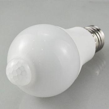 E27 LED lampa z czujnikiem ruchu PIR 10W 85-265V zmierzch do świtu noc żarówka Home K43C tanie i dobre opinie CN (pochodzenie) K43C5AC401831-A PC Aluminum app 60x118m 2 36x4 65in White Warm Whit
