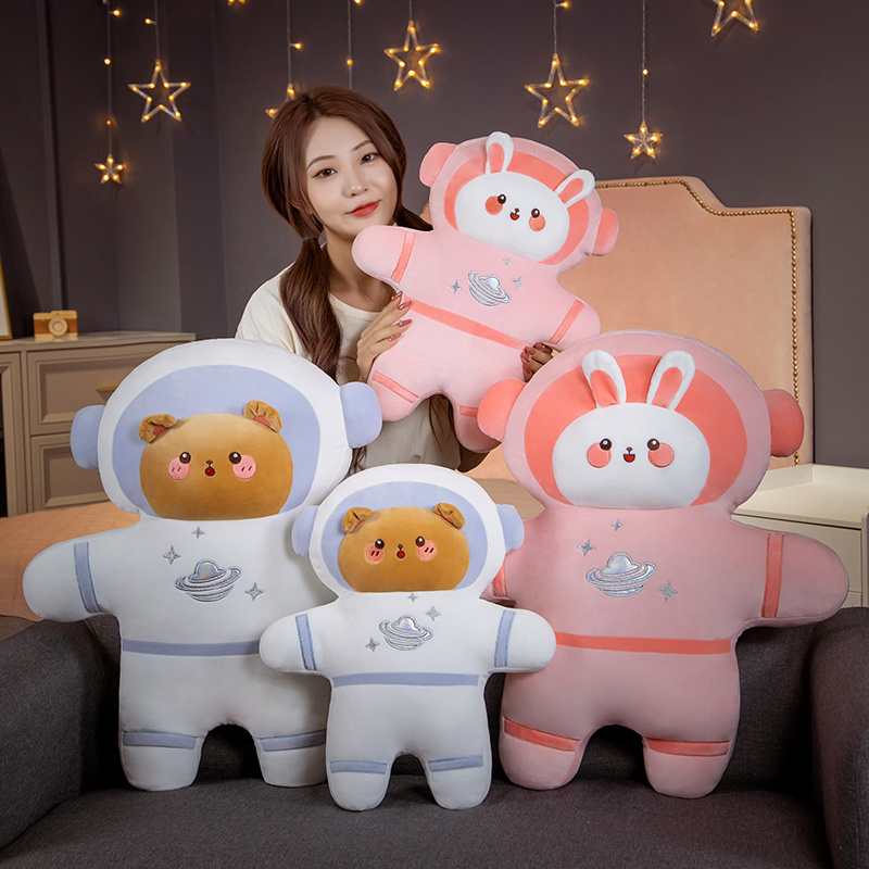 Bear Astronaut Plush Stuffed Bunny Spaceman Toys Soft Cute Pillow Room Decor Creative Doll Kids Girls Birthday Gifts Just6F